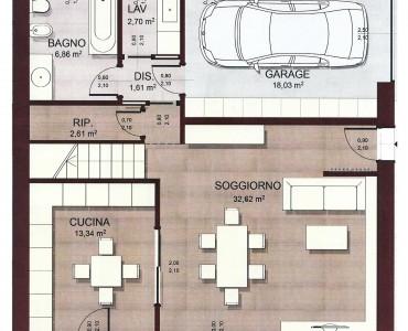 Progetto casa 100 mq due piani good in mq due bagni per for Casa su due piani progetto