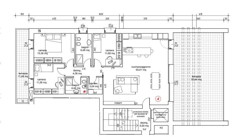 Planimetria attico nr. 4